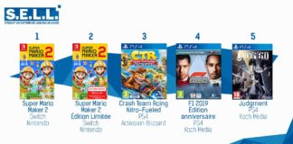 TOP Ventes Jeux Video sem 26 2019