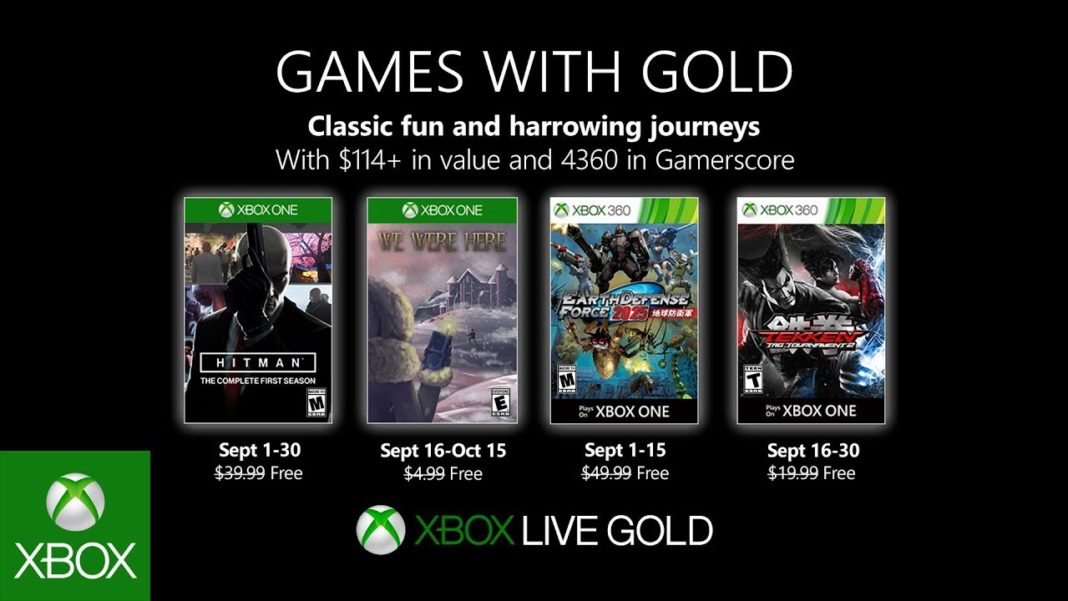 Xbox Live Games With Gold Septembre 2019