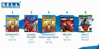 TOP Ventes Jeux Video sem 37 2019