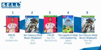 TOP Ventes Jeux Video sem 40 2019
