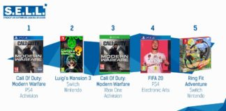 TOP Ventes Jeux Video sem 44 2019