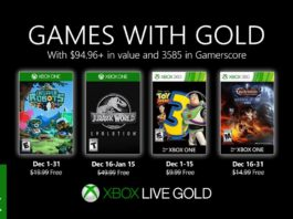 Xbox Live Games With Gold décembre 2019