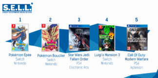 TOP Ventes Jeux Video sem 47 2019