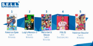 TOP Ventes Jeux video sem 28 2019