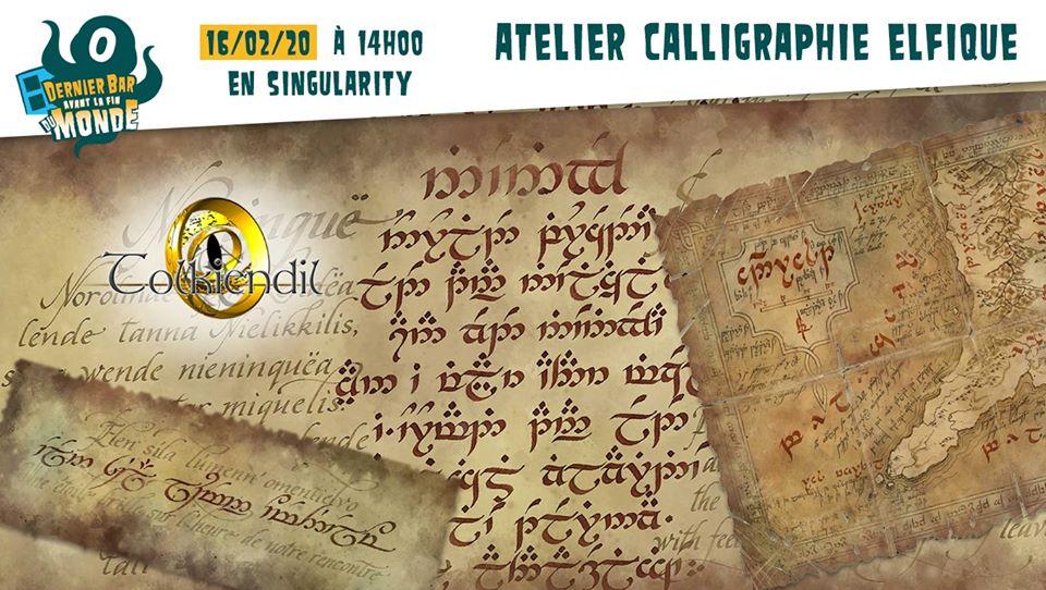 Atelier Calligraphie Eflique - Dernier Bar avant la Fin du Monde