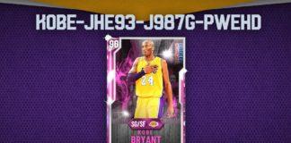NBA 2K20 - la carte MonEQUIPE Kobe Bryant Diamant Rose pour tous