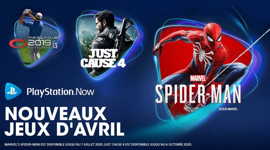 PlayStation Now - Avril 2020