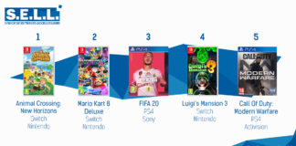 TOP Ventes Jeux Video sem 13 2020