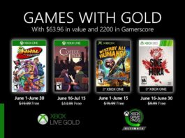 Xbox Live Games With Gold juin 2020
