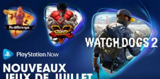 PlayStation Now - Jeux de juillet 2020
