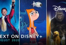 Disney Plus USA August 2020