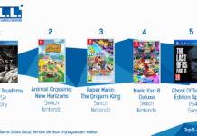 TOP Ventes Jeux Video sem 30 2020