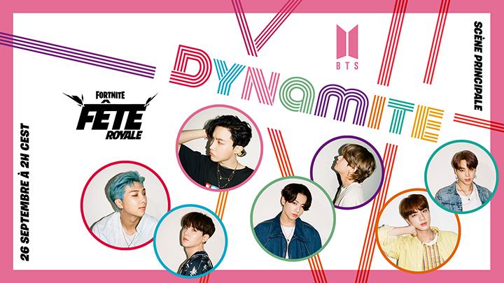 Fortnite Fête Royale BTS Dynamite
