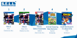 TOP Ventes Jeux Video sem 41 2020