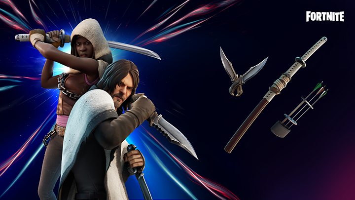 Fortnite X Daryl Dixon et Michonne de The Walking Dead