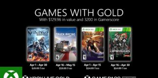 Xbox Games with gold avril 2021