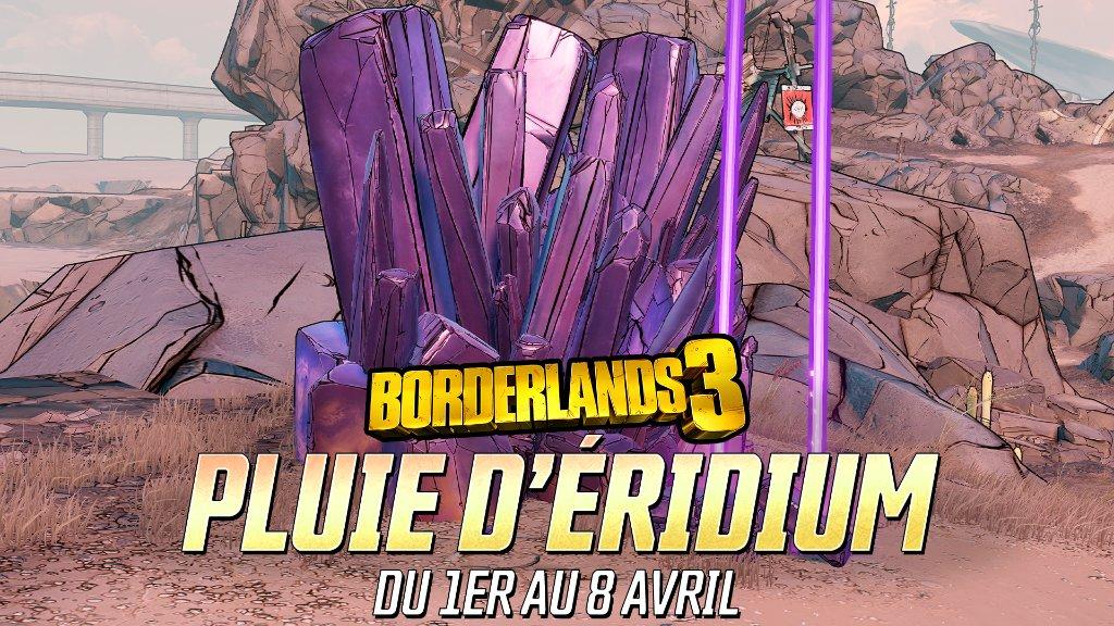 2K Borderlands 3 Mini-événement Pluie d'éridium