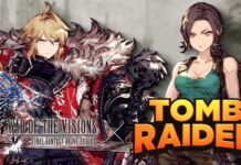War of the Visions Final Fantasy Brave Exvius × Tomb Raider 01
